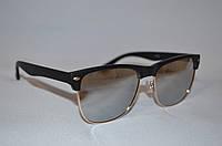Классические солнцезащитные очки унисекс Clubmaster зеркало матовый