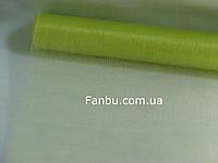 Органза обычная на метраж,цвет салатовый(ширина 70см)