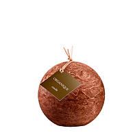Свеча ароматерапевтическая большой шар d 120 - Корица (Коричневый), 765 г