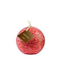 Свеча ароматерапевтическая большой шар d 120 - Смородина  (Красный), 765 г
