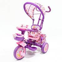 Детский трехколесный велосипед с ручками. Princess Violet