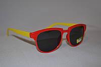 Солнцезащитные очки детские Wayfarer желто-красный