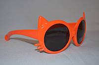 Солнцезащитные очки детские кошка оранжевый
