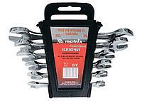 Набор ключей рожковых 6x17 мм, 6 шт, CrV, хромированные Matrix 15231