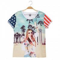 Женские стильные футболки Glo-story S, M.