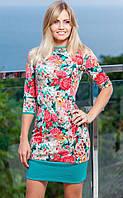 Цветочное платье с открытой спиной мод.18
