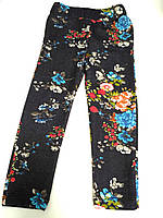 Летние лосины в цветочек для девочки