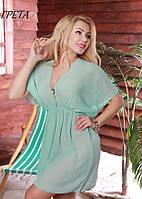 Пляжная туника/парео с V образным вырезом спереди и сзади,сборка под грудью ГРЕТА Fleur lingerie