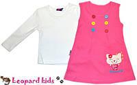 Платье-сарафан с кошечкой для девочки