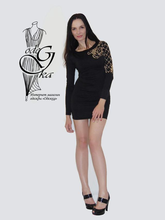 Фото-1 Платья трикотажного короткого Мини-1