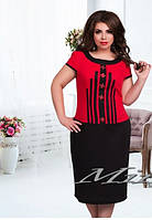 Женское платье лён батал  в 4 расцветках , фото 1