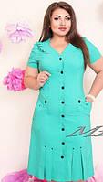 Женское платье батал в трёх расцветках , фото 1