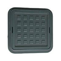 Люк квадратный Ромашка 260/370 (мини люк) черный