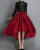 Атласная юбка Асимметрия