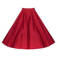 Трикотажная юбка-клеш