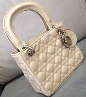 Лаковая женская сумка мини Christian Dior