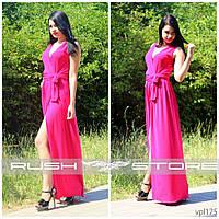 Красивое платье в пол с разрезом и декольте