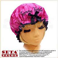 """Малиновая шапочка для душа и косметических процедур """"Femme Fatale"""""""