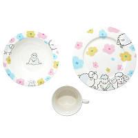 Набор детской посуды Funny Sheep 3 предмета + детская сказка Krauff
