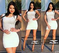 Гипюровое мини платье