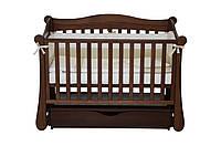 Детская кроватка Верес- Соня ЛД 18 с ящиком и маятником