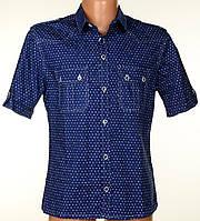 """Мужская рубашка """"Trussardi Jeans"""" синего цвета.Новая летняя коллекция"""