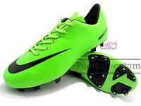 Бутсы (копы) Nike Mercurial (Зеленый, черный)