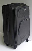 Чемодан дорожный четырехколесный, среднего размера, текстильный, серый, Euro Emporio.