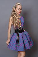 Платье с поясом Горох