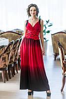 Выпускное платье с широким кружевным поясом