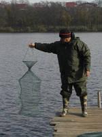 Садок для рыбы (ручная работа)  4 кольца d=45см h=115см яч 2см.