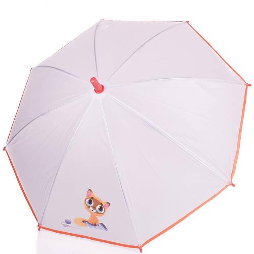 Механический детский зонт-трость облегчённый AIRTON (АЭРТОН) Z1511-02, прозрачный