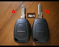 Корпус ключа 2 кнопки Renault Trafic, Рено Kangoo,Opel Vivaro, Master