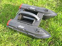 JABO-5A Кораблик для завоза прикормки 2 корпуса, 2 бункера*1,5 кг для прикормки, 2 крюка для 2-х снастей,