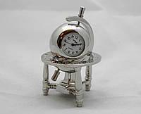 Часы NEW DAY в виде глобуса  - серебристые