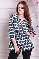 Модная блуза полубатальных размеров