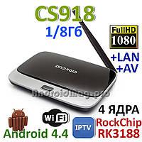 MK888 CS918 Q7 Android TV Box 4 ядра 1GB/8GB + прошивка и настройка