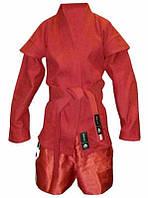Кимоно самбо красное Matsa MA-3209 плотность 500мг