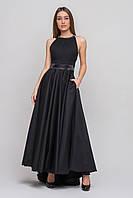 Роскошное черное платье в пол со шлейфом