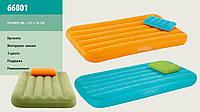 Надувной велюр-матрас с подушкой Intex