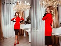 Женское Платье кружево красное  42,44,46
