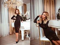 Женское Платье кружево черный  42,44,46