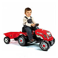 Трактор на педалях с прицепом Smoby GM Bull 33045