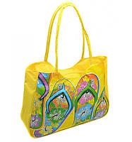 Сумка Женская Пляжная текстиль  1327 yellow купить дёшево в розницу