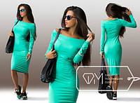Женское Красивое платье миди ментол