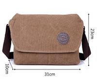 Повседневная мужская сумка на плече. Сумка из ткани для мужчин. Износостойкая сумка для студента. Код: КН39