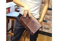 Стильная небольшая сумка для мужчин. Удобная кожаная сумка на плече. Модная мужская сумка. Код: КН40