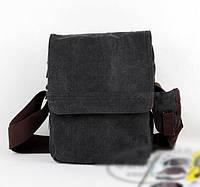 Текстильная сумка на плече. Мужская сумка с длинным ремнем. Стойкая, удобная сумка на каждый день.  Код: КН41