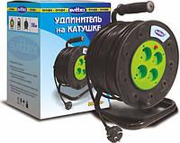 Удлинитель SVITTEX на катушке 50 м на 4 гнезда с сечением провода 2х2,5 мм², код SV-021