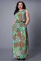 Летнее платье с резинкой на талии